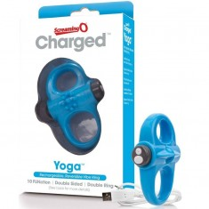 SCREAMING O RECHARGEABLE AND VIBRATING RING YOGA BLUE - 2