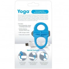 SCREAMING O RECHARGEABLE AND VIBRATING RING YOGA BLUE - 3