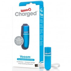 SCREAMING O RECHARGEABLE VIBRATING BULLET VOOOM BLUE - 2