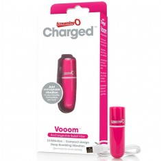 SCREAMING O RECHARGEABLE VIBRATING BULLET VOOOM PINK - 1