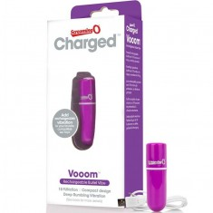 SCREAMING O RECHARGEABLE VIBRATING BULLET VOOOM PURPLE - 1