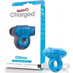 SCREAMING O VIBRATING RECHARGEABLE RING O WOW BLUE - 2