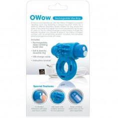 SCREAMING O VIBRATING RECHARGEABLE RING O WOW BLUE - 3