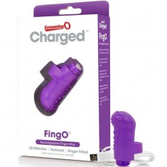 SCREAMING O RECHARGEABLE FINGER VIBE FING O PURPLE - 2