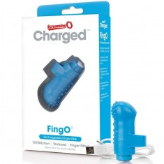 SCREAMING O RECHARGEABLE FINGER VIBE FING O BLUE - 2