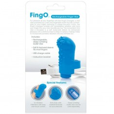 SCREAMING O RECHARGEABLE FINGER VIBE FING O BLUE - 4