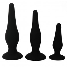 PRETTY BOTTOM - BEGGINER'S ANAL KIT SILICONE PLUGS - 1