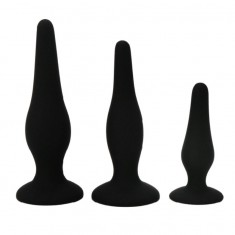 PRETTY BOTTOM - BEGGINER'S ANAL KIT SILICONE PLUGS - 3