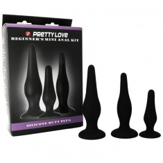PRETTY BOTTOM - BEGGINER'S ANAL KIT SILICONE PLUGS - 4