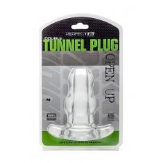 PERFECTFIT DOUBLE TUNNEL PLUG - MEDIUM  CLEAR