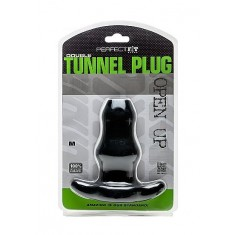 PERFECT FIT DOUBLE TUNNEL PLUG - MEDIUM - BLACK