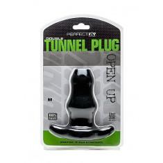 PERFECT FIT DOUBLE TUNNEL PLUG - MEDIUM - BLACK - 2