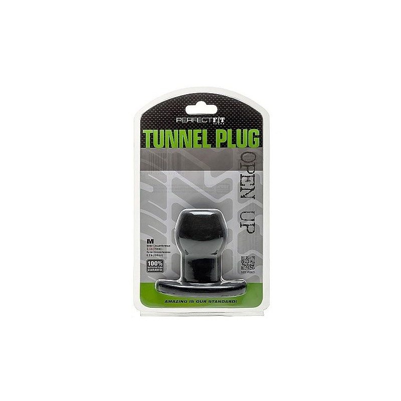 PERFECT FIT ASS TUNNEL PLUG SILICONE BLACK M - 1