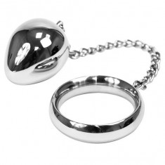 METALHARD COCK RING 45MM + CHAIN BEAD - 1