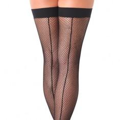 Black Fishnet Stockings With Seem