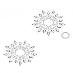 Petits Joujoux Gloria Silver Nipple And Belly Button Pasties