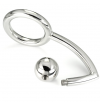 METALHARD COCK RING INTRUDER WITH ANALBEAD 30MM - 1