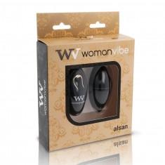 WOMANVIBE ALSAN EGG REMOTE CONTROL BLACK SILICONE BLACK
