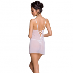 PASSION LOVELIA CHEMISE - WHITE L/XL