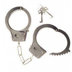 Me You Us Heavy Metal Handcuffs Silver OS