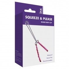 Me You Us Squeeze N Please Beaded Clit Clip Red OS