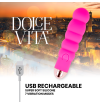 DOLCE VITA RECHARGEABLE VIBRATOR SIX PINK 10 SPEEDS
