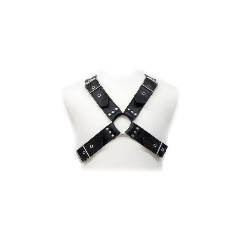 LEATHER BODY BUCKLES HARNESS - 1
