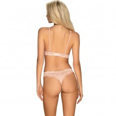 OBSESSIVE - LUVAE TWO PIECES SET PEARL COLOUR S/M