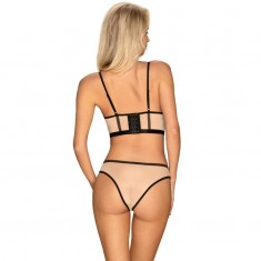 OBSESSIVE - NUDELIA TWO PIECES SET NUDE S/M