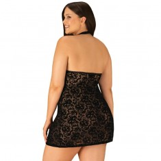 OBSESSIVE - SOFTILY CHEMISE AND THONG XXL/XXXL