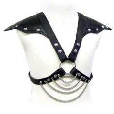 LEATHER BODY WITH SHOULDER WINGS - 1